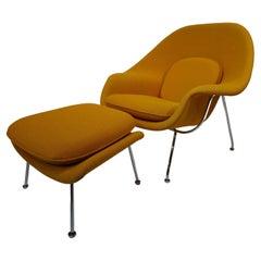 Eero Saarinen Womb Lounge Chair w/ Ottoman for Knoll