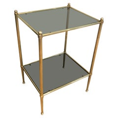Neoclassical Style Brass Side Table
