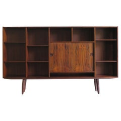 Scandinavian Midcentury Dark Wood Bookcase by Poul Hundevad 'Attributed' 1950s