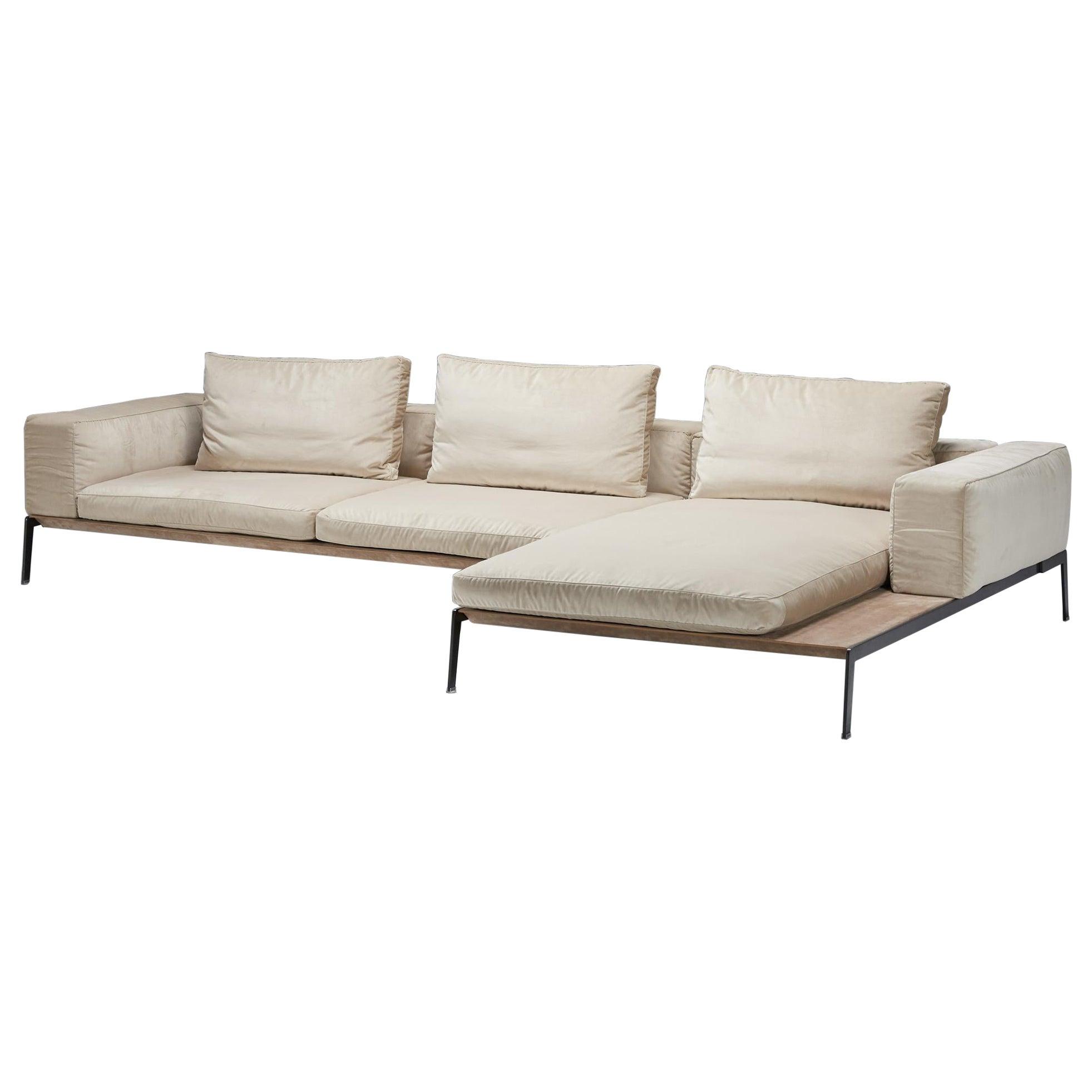 Antonio Citterio for Flexform, Lifesteel White Three Seater Sofa