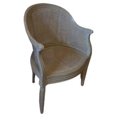 Late 18th Century French Louis XVI Cane Armchair, 1870s