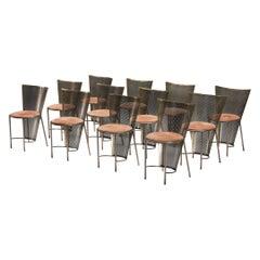 Post-Modern Frans Van Praet Expo '92 Brass Chairs