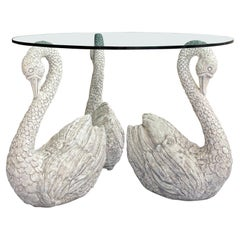 1970s Neo-Classical Style Cast Swan Center or Dining Table