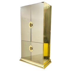 Ello Brass & Bronze Mirrored Cabinet