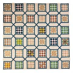 Nine Patch inside Garden Maze Quilt