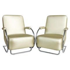 Art Deco Streamline Moderne Chairs by Kem Weber, Attributed