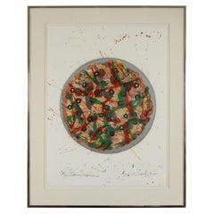 "David Gilhooly ""De Kooning Take Home Pizza"" Print"