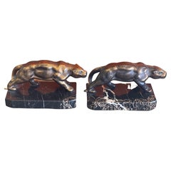 Pair of Panther Art Deco Bookends