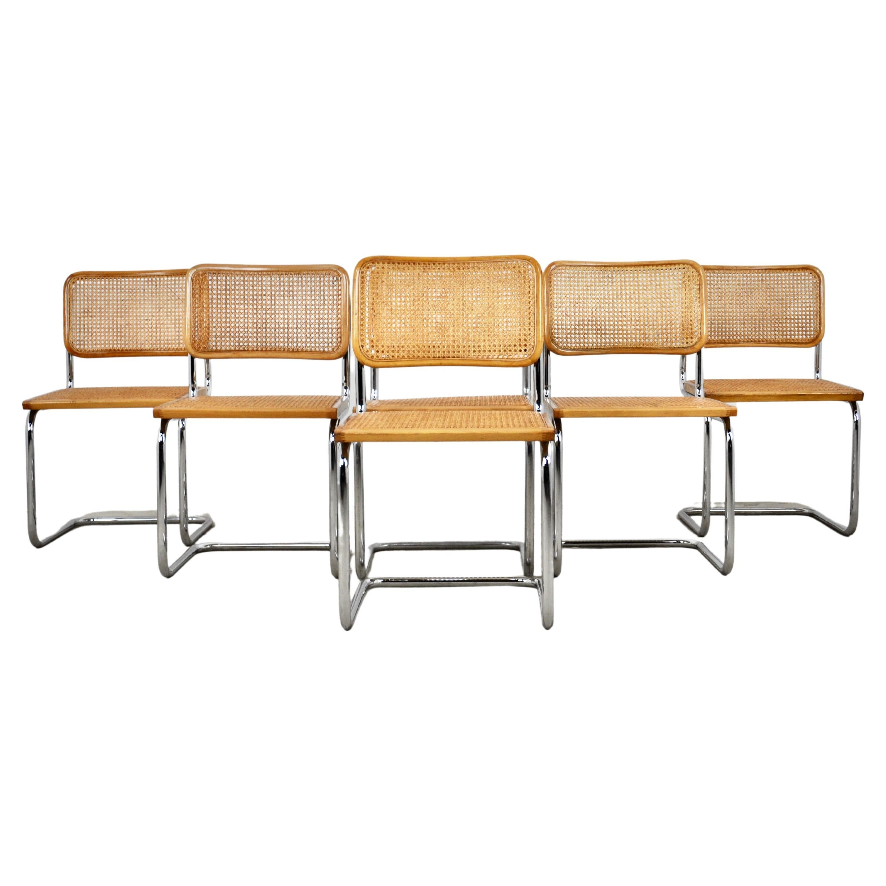 Dinning Style Chairs B32 by Marcel Breuer Set 6