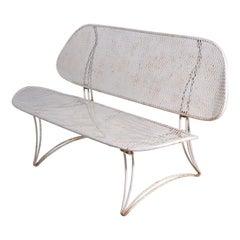 Metal Mid Century Garden Poolside Sofa bench by Homecrest