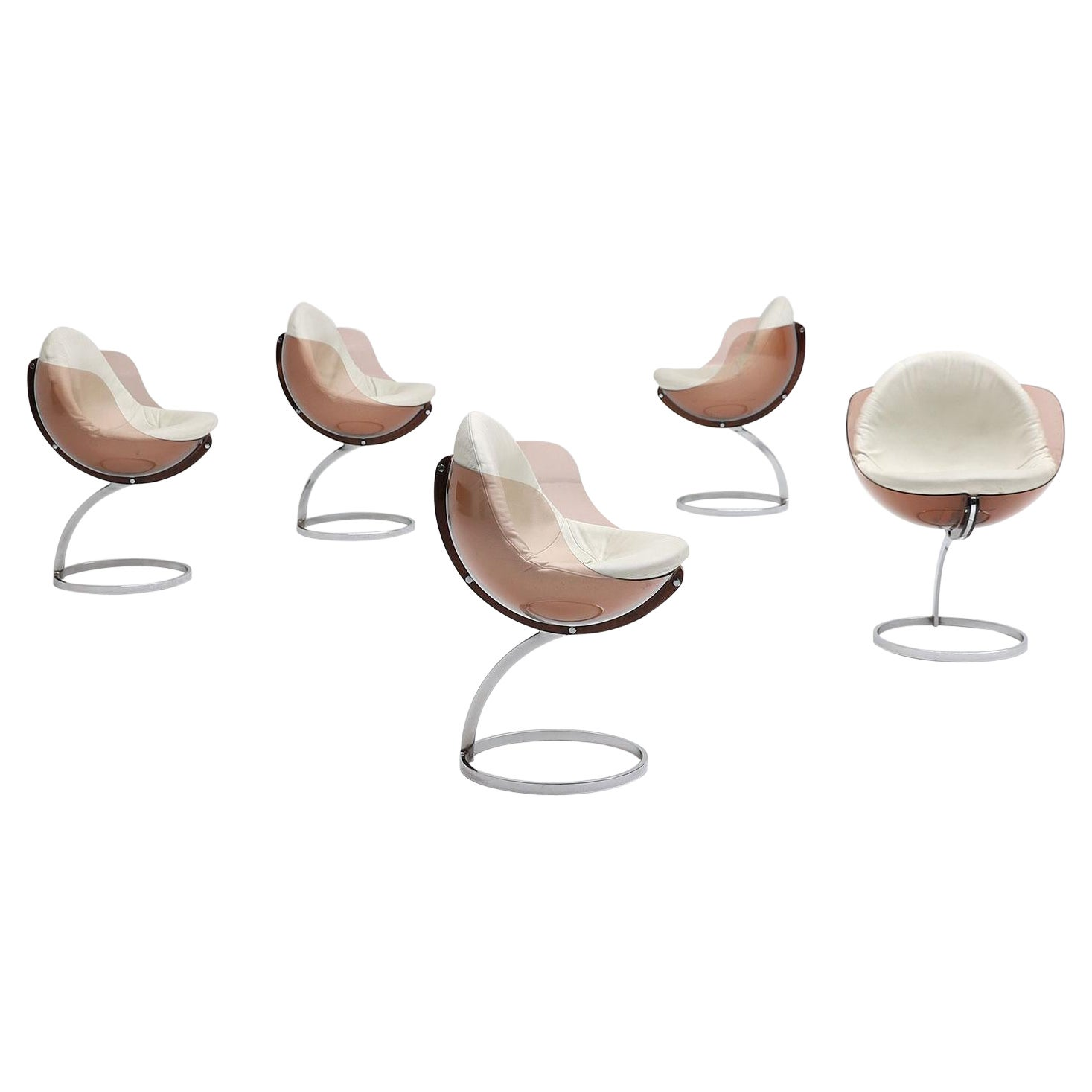 Set of 5 Sphere Chairs Designed by Boris Tabacoff, 1971