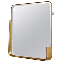 Vintage Square Mirror, 1980s