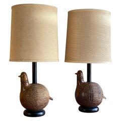 Pair of Italian Lamps by Aldo Londi for Bitossi