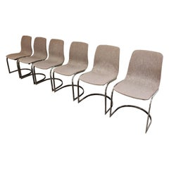 Vintage Italian Chrome Dining Chairs, 1970s, Set of 6