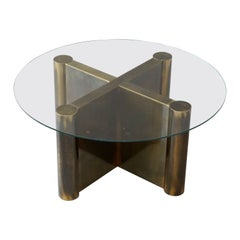 Mastercraft, Cocktail Table / Side Table, Brass, Glass, USA, 1970s