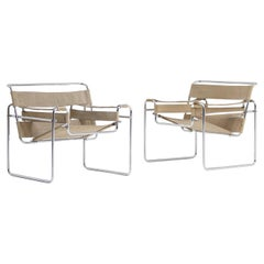 Pair of Wassily Chairs by Marcel Breuer for Gavina