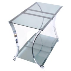 Bar Cart in the Manner of Michel Boyer Space Age Design France 1960s Chromium