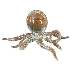 Art Glass Octopus Sculpture by Hans Godo Frabel