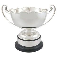 Antique George V Sterling Silver Presentation Bowl '1923'