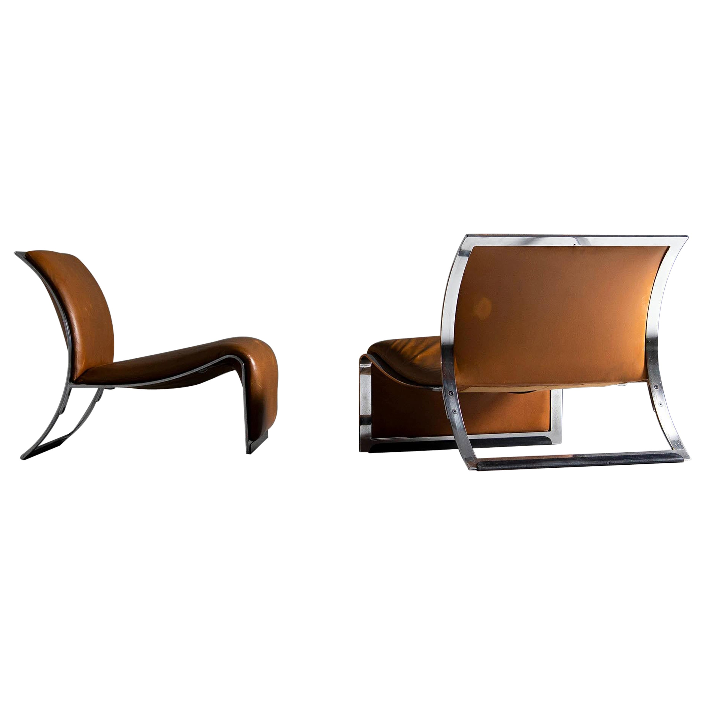 Vittorio Introini Lounge Chairs Saporiti, Italy, 1965
