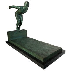 Bronze Sculpture of a Diver by J.Duquet