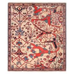 Vintage Turkish Bidjar Design Wagireh Sampler Rug. Size: 5 ft 4 in x 6 ft 3 in