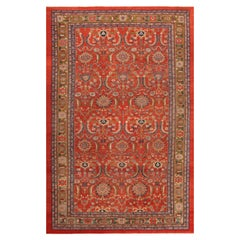 Antique Persian Sultanabad Sickle Leaf Design Rug. Size: 10 ft x 14 ft 10 in