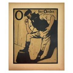 "O for Ostlert ""An Alphabet"" by William Nicholson, First Edition, London, 1898"