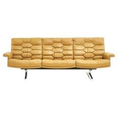 De Sede Leather DS-P Sofa by Robert Haussmann, Switzerland, 1970