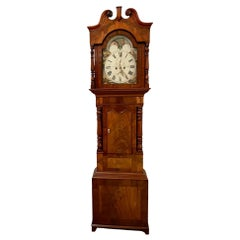 Outstanding Quality Antique Victorian Figured Mahogany Grandfather Clock with