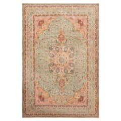 Vintage Persian Tabriz Large Silk And Wool Rug. Size: 11 ft 2 in x 16 ft 4 in