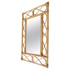 Rectangular Rattan Mirror, France 1960s