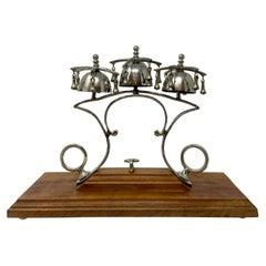 Antique Horse Hames Designed Sleigh Bells on Stand, Circa 1900's.