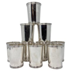 """Set of 10 Estate American """"Wm. Rogers"""" Sterling Silver Mint Julep Cups"""
