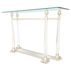 Glass and Lucite Console Table France, C.1970