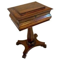 Quality Antique William IV Rosewood Work Box