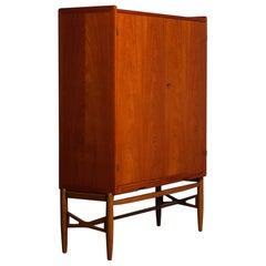 1960's Scandinavian House Keepers / Storage Cabinet in Teak and Oak by Westbergs