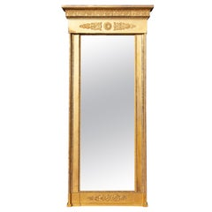 French Neoclassical Giltwood and Gilt-Gesso Pier Mirror, Circa 1820