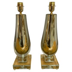 Alberto Dona, Pair of Murano Table Lamps, 1990