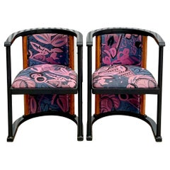 Vintage Italian Postmodern Elle Due Arredamenti Burl Wood Side Chairs, a Pair