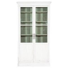 19thC French Oak Painted Glazed Bookcase / Vitrine