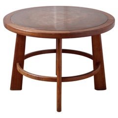 Otto Færge Coffee Table in Oak and Copper, Denmark 1940s
