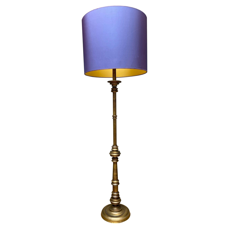 Italian Gaetano Sciolari Brass Floor Lamp