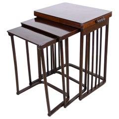 Josef Hoffmann Bentwood Nesting Table Mod. 986 by J & J Kohn, Austria, 1905