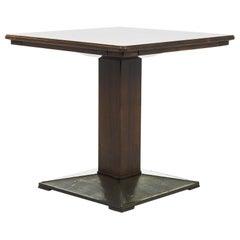 1920s Czech Wooden Pedestal Table