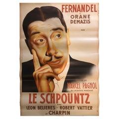 """French Film Poster """"le schpountz"""" de M.Pagnol"""
