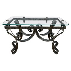 Spanish Wrought Iron Cocktail Table