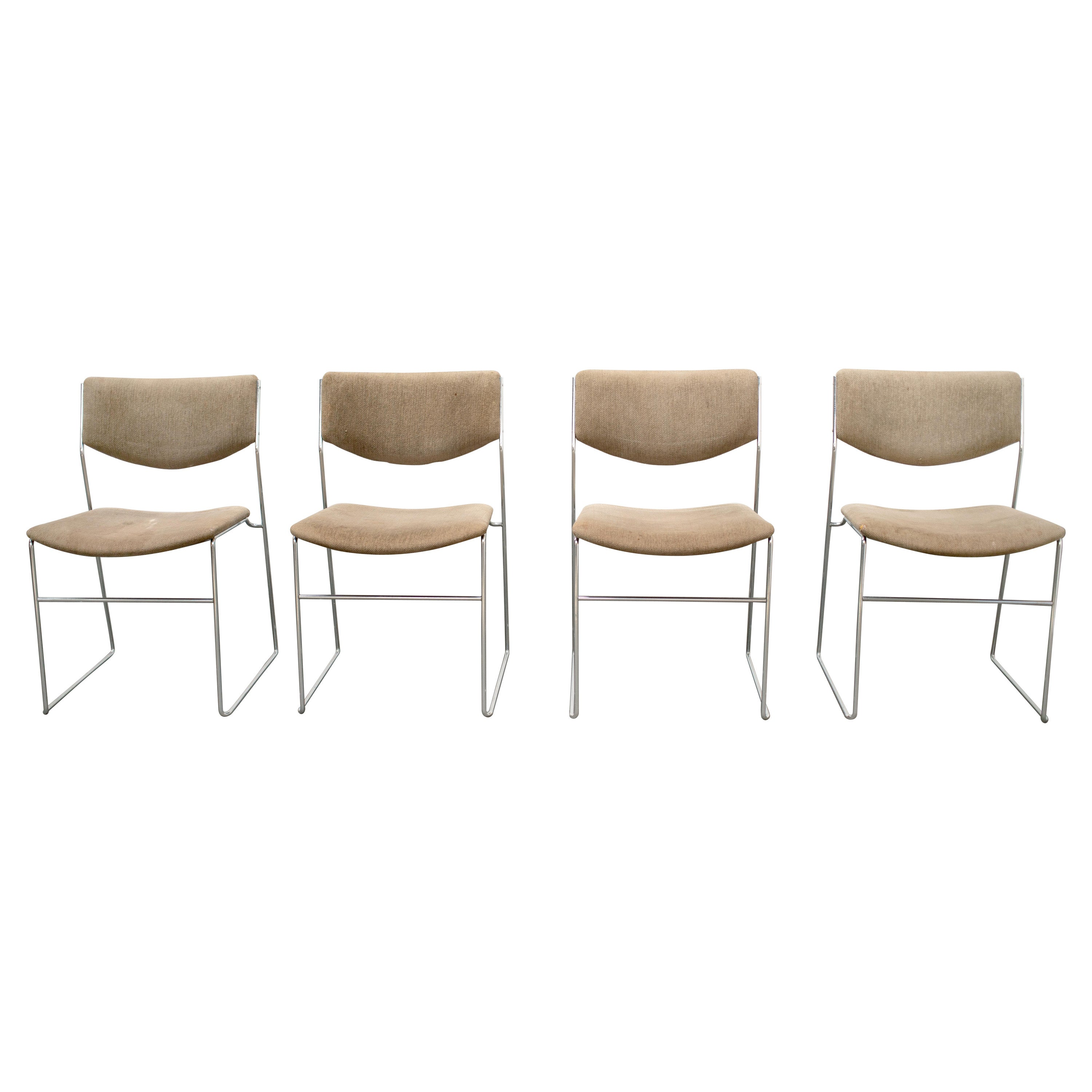 """1970s """"Elle"""" Chairs by Takahama for Gavina, Italy, Set of 4"""