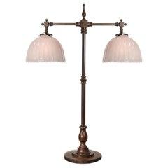 Large Bronze Double Bank Lamp