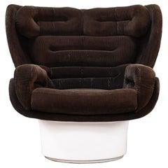 Original 1960s Joe Colombo Elda Lounge Chair for Comfort, Italy